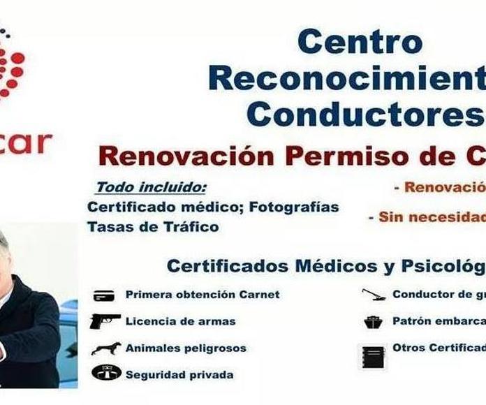 Centro reconocimiento conductores Valencia, Renovacion permiso de conducir Valencia, Medicar Centro Medico Bentusser