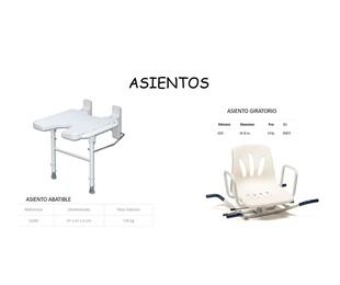 ASIENTOS DE DUCHA