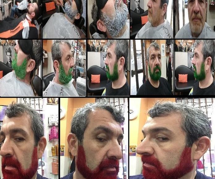 Decoloraciones y color de barbas