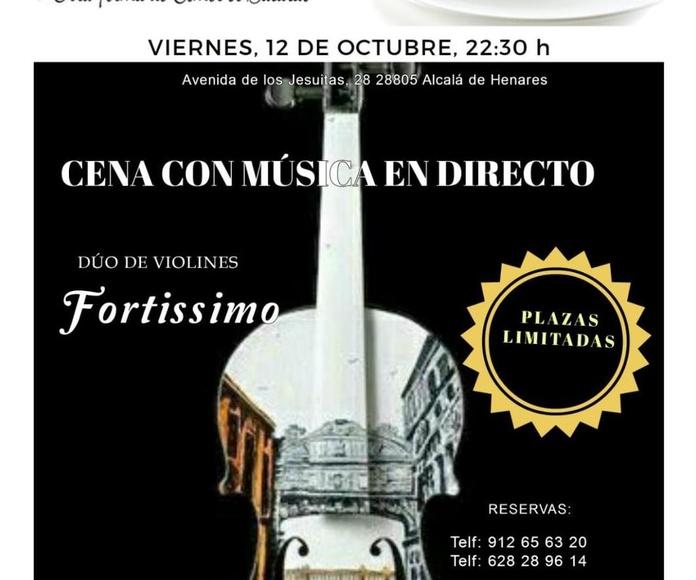 Cena Con Musica en Directo-Duo de Violines Fortissimo-Plazas Limitadas