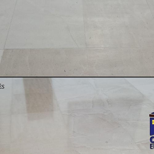 Floor polishing and brightening