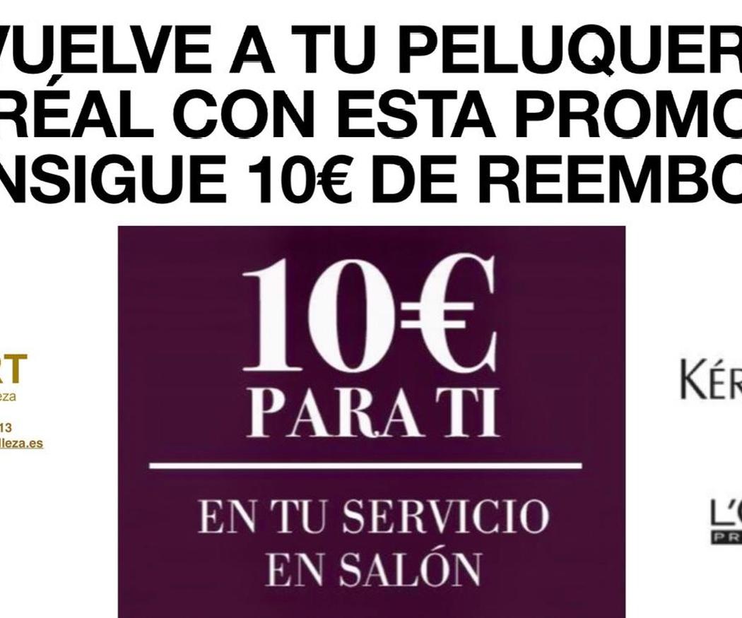 10 euros de reembolso por volver a tu peluquería L'Oréal