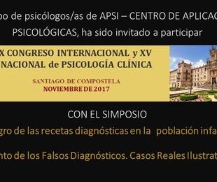 PARTICIPACIÓN EN EL X CONGRESO INTERNACIONAL DE PSICOLOGÍA CLÍNICA