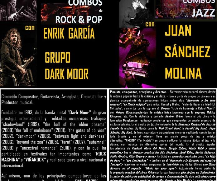 COMBOS de ROCK & POP & JAZZ con Enrik García (Dark Moor) y Juan Sánchez Molina