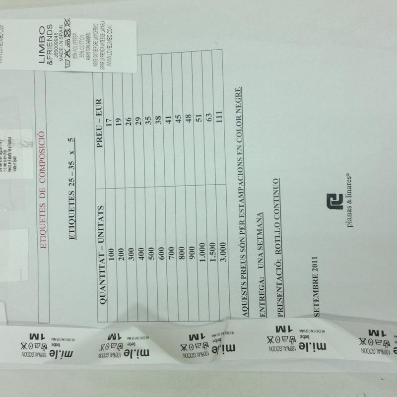 Etiquetas de composición