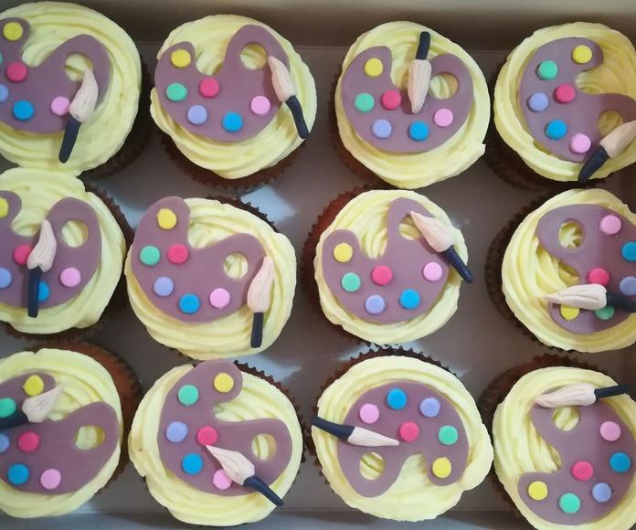 cupcake paleta de pintor