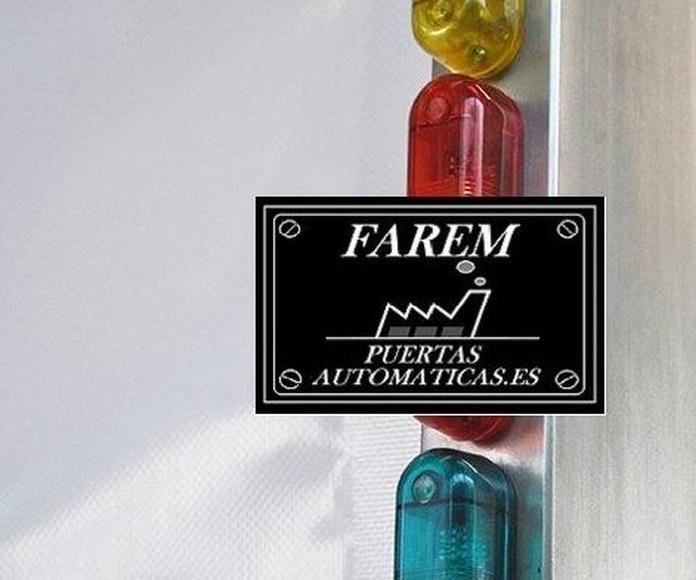 Aviso luminoso Puerta Rápida Salas Blancas Farem Giess Auto Pharma