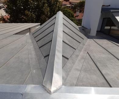 Cubierta de zinc natural