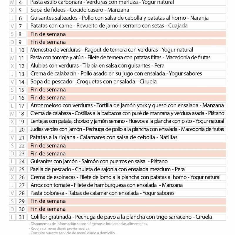 Menú Mayo:  de Restaurante El Cobijo