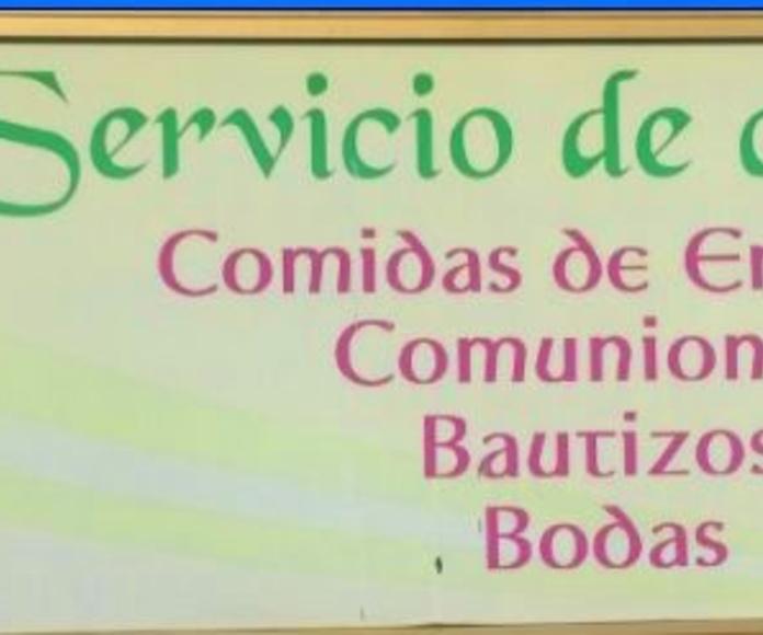 Servicio de catering.