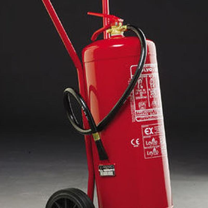Extintor de Polvo (carro) 25kg y 50kg: Servicios contra incendios de Sistemas contra incendios Madrid