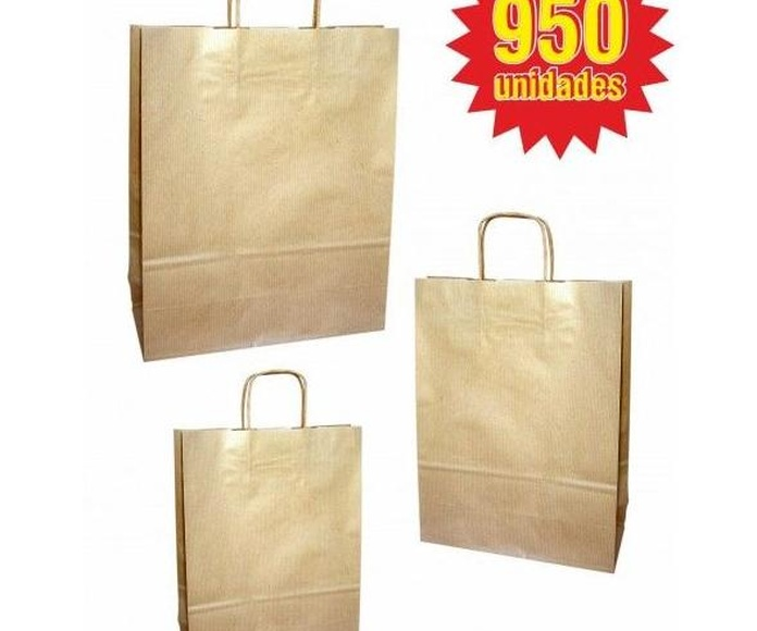 Lote 950 Bolsas asa retorcida Kraft: TIENDA ON LINE de Seriprint Serigrafia