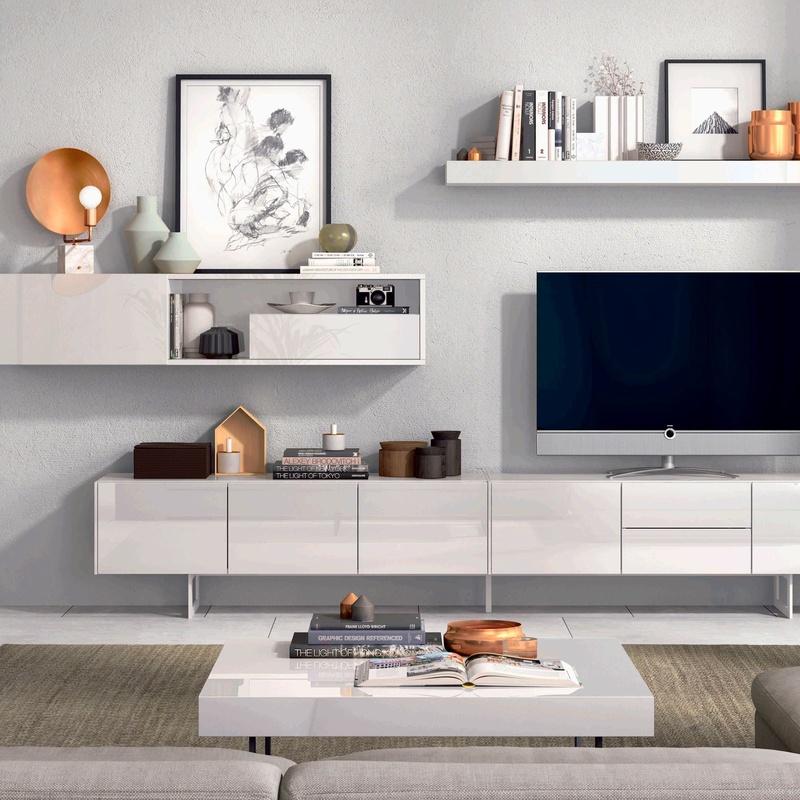 Muebles Salón Moderno en Getafe Lacado Brillo.