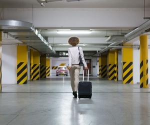 Aparcamiento en el aeropuerto de Málaga