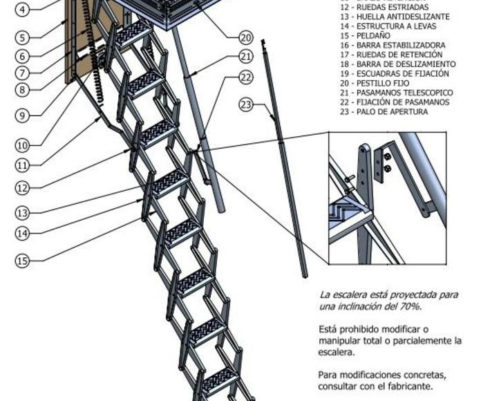 Escaleras para techos en Bizkaia: PRODUCTOS de CARPINTERIA MAZUSTEGUI S.L