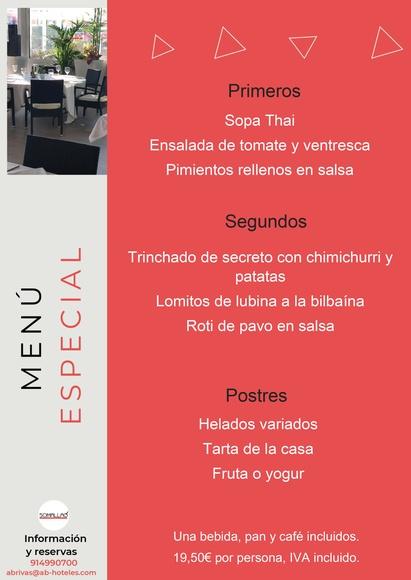 Restaurante Somallao Rivas Menú Especial 11 al 17 de Agosto de 2021