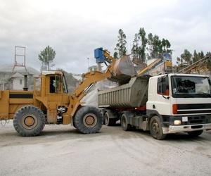 Transporte de material de construcción en Vizcaya