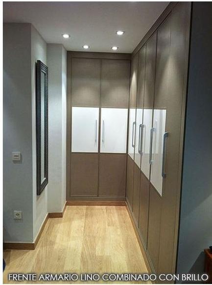 Frente de armario lino combinado con brillo