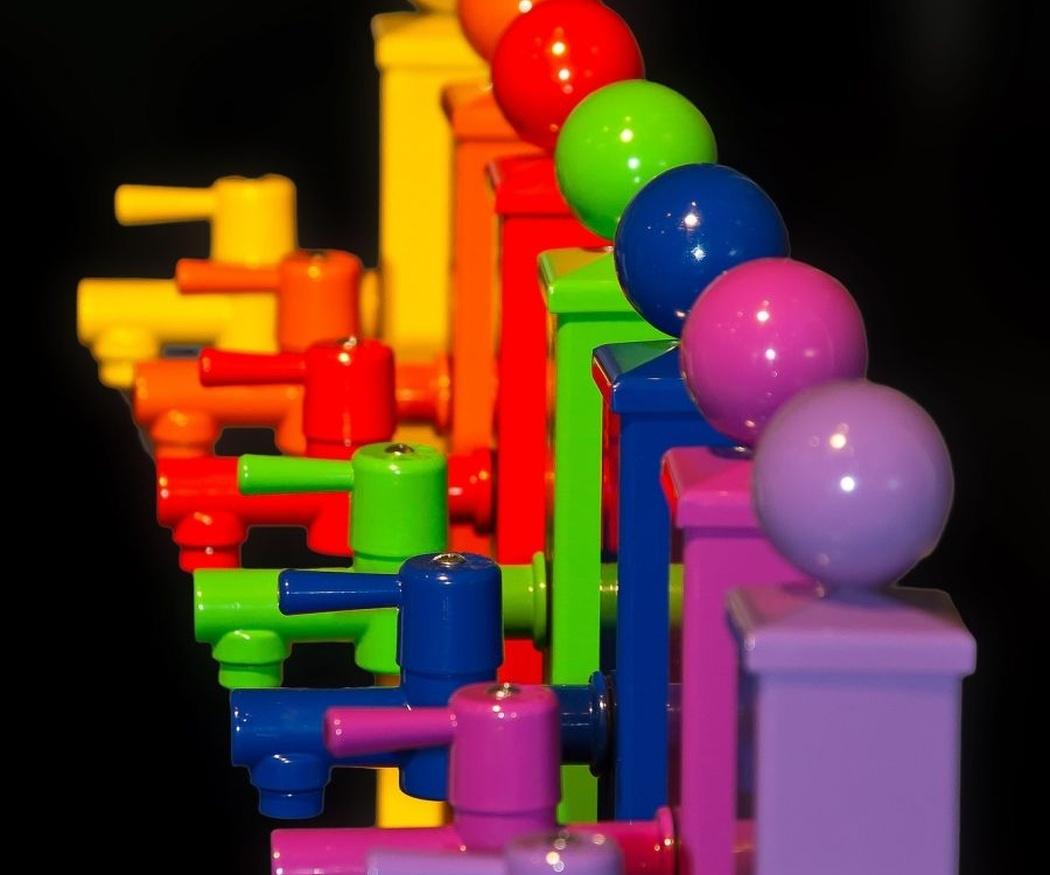 Los grifos de colores, la última moda
