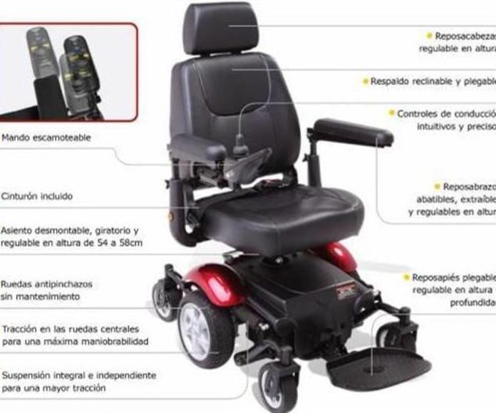 """Silla de ruedas eléctrica con tracción central """"R300"""""""