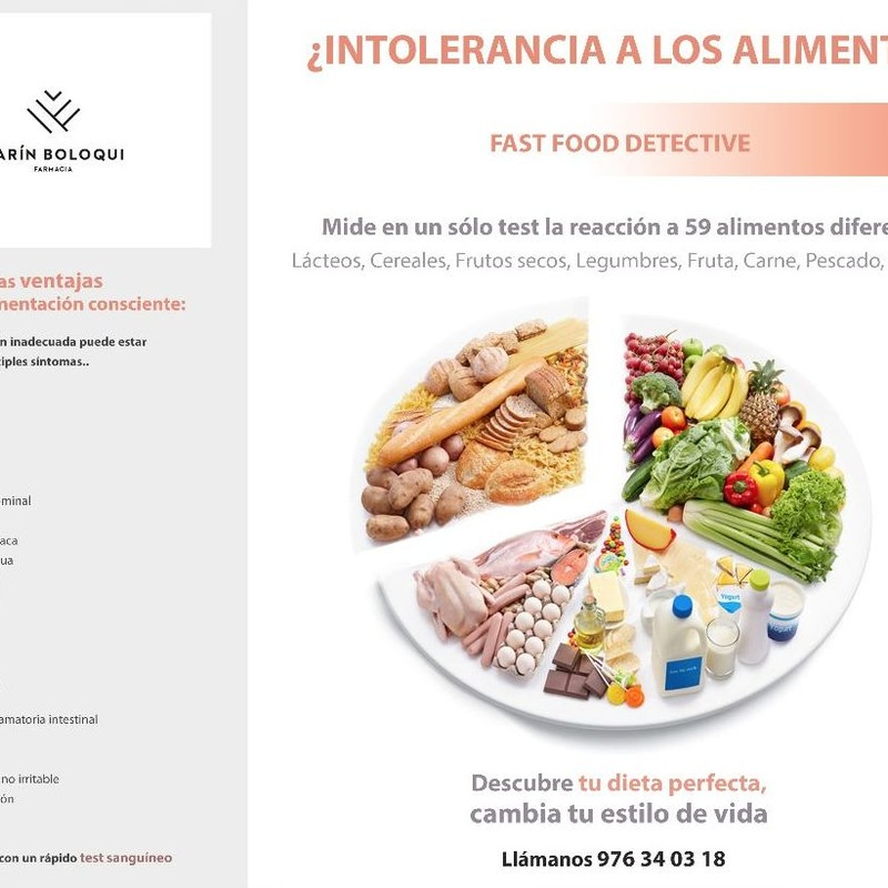 Intolerancia a Alimentos: Servicios de Farmacia Marín Boloqui
