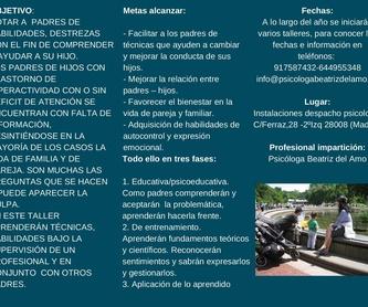 Adultos: Servicios de Psicóloga Beatriz del Amo