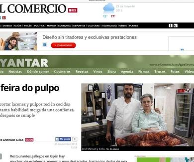A Feira do pulpo en el diario El Comercio