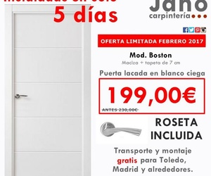 Oferta limitada, puerta lacada en blanco boston