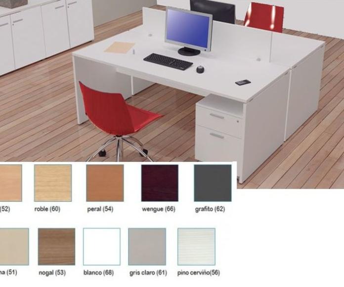 mesa amba en acabado de color blanco