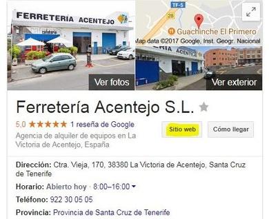 Sitio web de Google