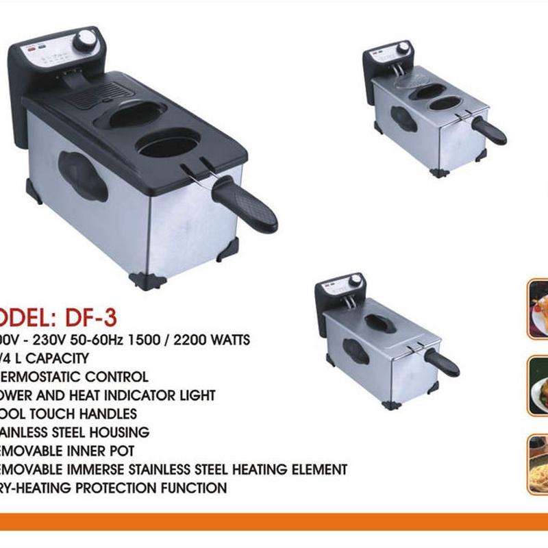 FREIDORA DE ACEITE 3L 2000W INOX ---22€: Productos y Ofertas de Don Electrodomésticos Tienda online