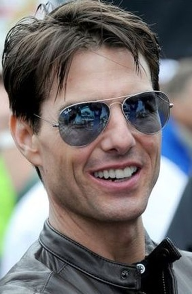 Tom Cruise con las Ray-Ban Aviator. Foto de Vogue.it
