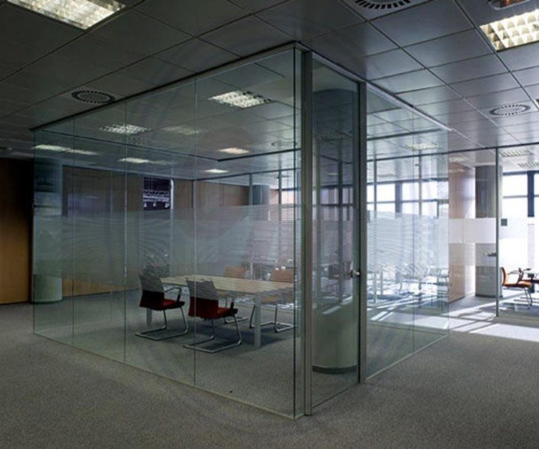 Las divisiones en vidrio