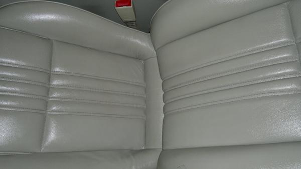 Asiento de piel de un Alfa Romeo