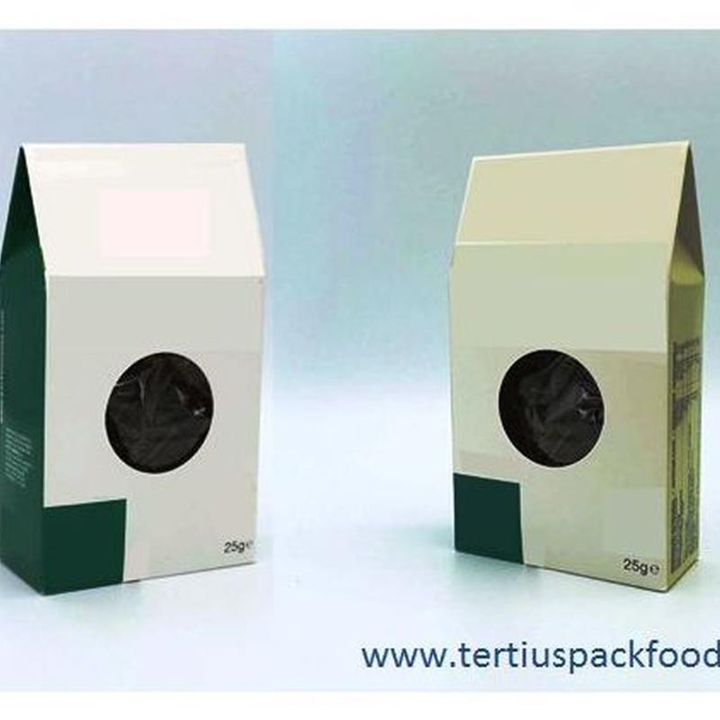 Bolsas conformadas de bobina embalado en caja