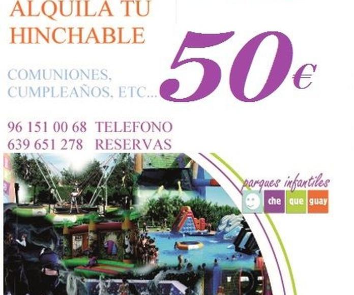 Alquila tu hinchable desde 50€: Servicios de Chequeguay