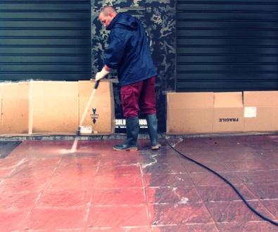 Limpieza, recuperación e hidrofugado de suelo de terrazo