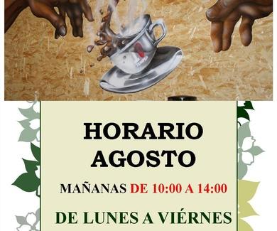 HORARIO DE LA EXPOSICIÓN EN AGOSTO