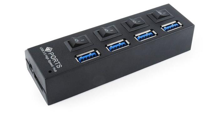 ADAPTADOR/HUB 4 PUERTOS USB 3.0 CON INTERRUPTOR W10 COMPATIBLE UHB-U3P4-02: Nuestros productos de Sonovisión Parla