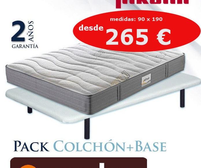 EV Colchonería: conjunto colchón y base Pikolin desde 265 €