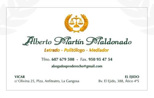 Fotos de Abogados en Vicar | Abogados Pro Derecho- Lic. Alberto Martín Maldonado