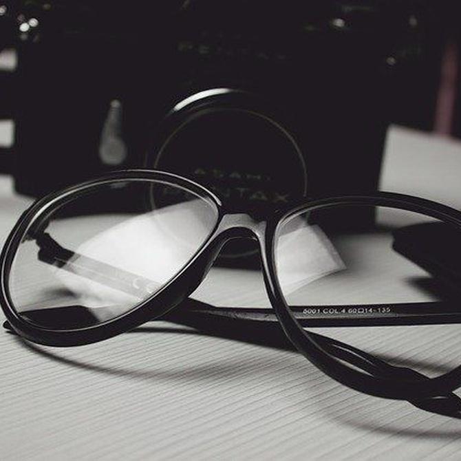 Vista cansada y gafas