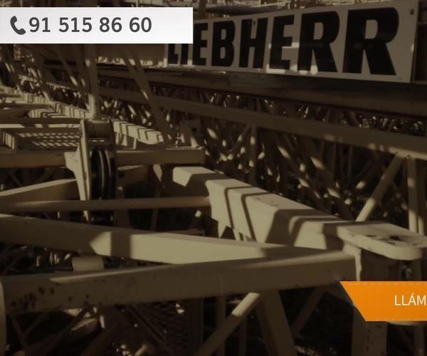Alquiler de grúas torre en Chamartin, Madrid | Grufinsa