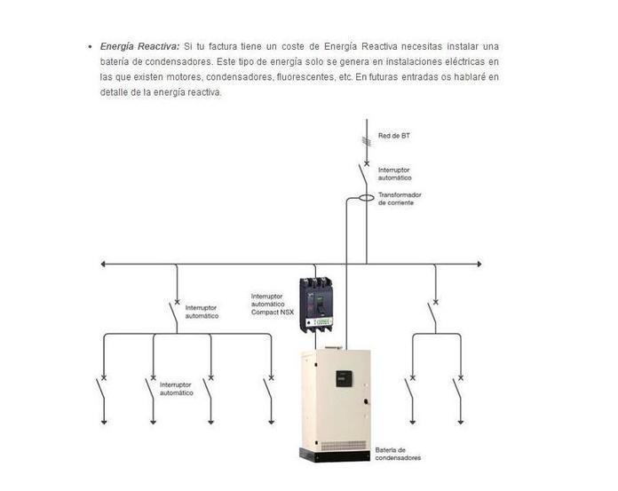 Ahorre en la factura de electricidad compensando la energia Reactiva.