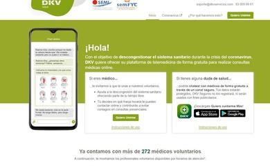 ¿Conoces #MédicosfrentealCOVID? DKV ofrece su plataforma de telemedicina de forma gratuita