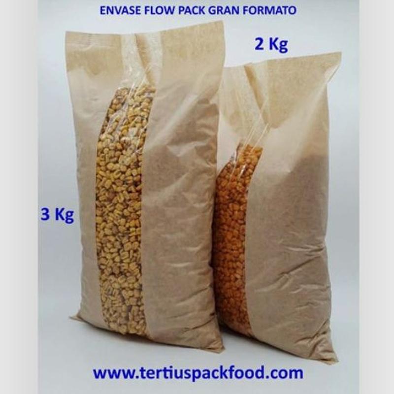 Envases en bolsa conformada desde bobina gran tamaño: NUESTROS  ENVASADOS de Envasados de Alimentos Bio y Gourmet, S.L