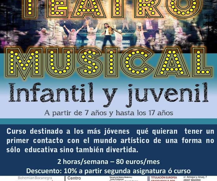 Taller de TEATRO MUSICAL INFANTIL & JUVENIL a partir de 7 años y hasta 17