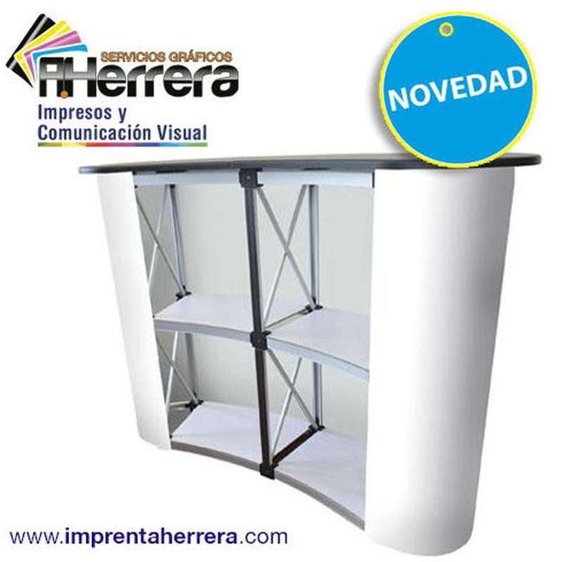 Mostrador pop-up Curvo (trasera)