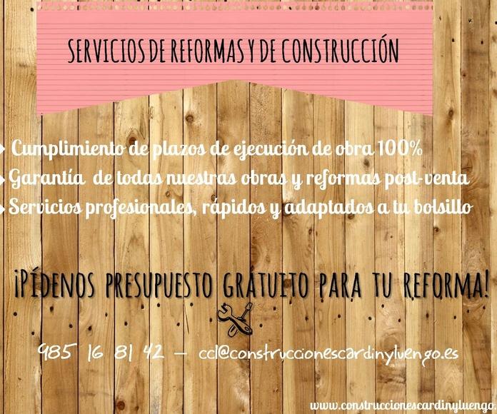 Obras de construcción y reforma en Asturias
