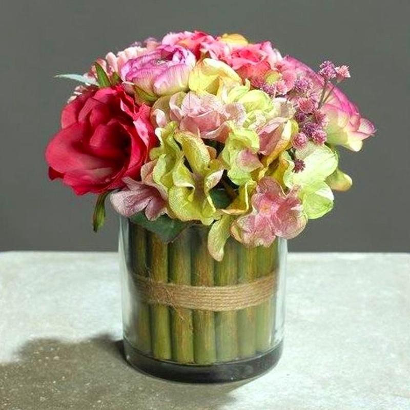 Centro Floral Rosa